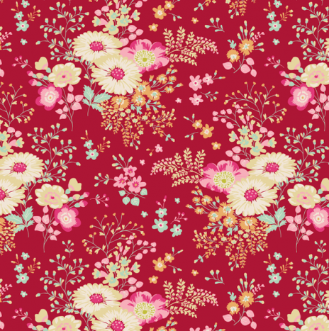 Lucille Red – Cabbage Rose by Tilda